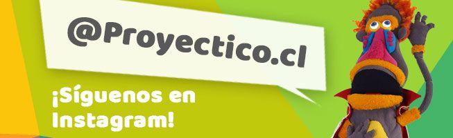 ¡Síguenos en Instagram! @Proyectico.cl