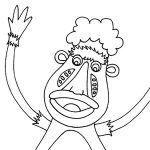 dibujo-para-colorear-mono-luis-proyectico-titeres-educativos